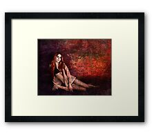 Painted Woman Framed Print