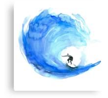 Surf Wave Art Canvas Print