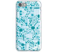 Blue Botanical Calamity iPhone Case/Skin
