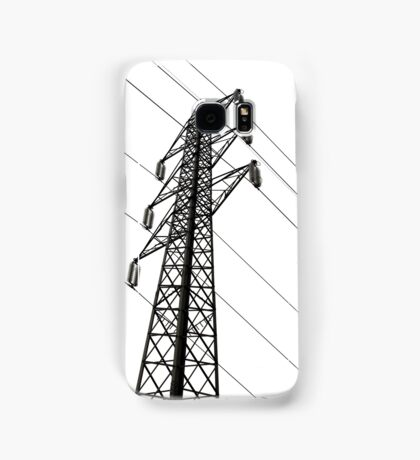 electricity pylon against the sky Samsung Galaxy Case/Skin