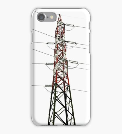 electricity pylon against the sky iPhone Case/Skin