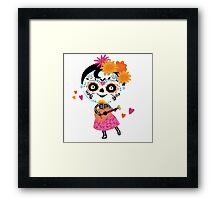 Day Of The Dead - Mexican Girl Framed Print