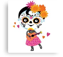 Day Of The Dead - Mexican Girl Canvas Print