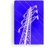 electricity pylon against the sky Canvas Print