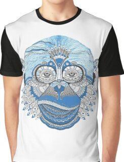 Colorful Monkey Graphic T-Shirt
