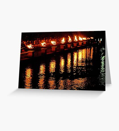Reflections of Fire Greeting Card