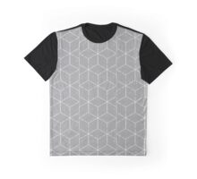 optical cubic pattern Graphic T-Shirt