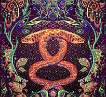 Psychedelic Ayahuasca snake spirit by Andrei Verner