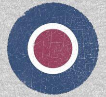 Vintage Look WW2 British Royal Air Force Roundel Kids Tee