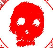 Red Blurry Skull (Cybergoth) Sticker