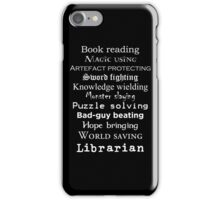 Librarian white text iPhone Case/Skin