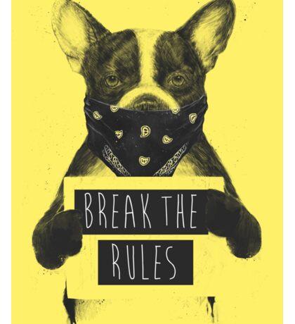 Rebel dog (yellow) Sticker