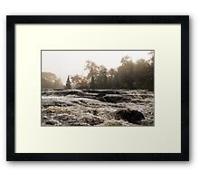 Whiskey River - Rough Rapids and Soft Fog Framed Print