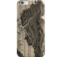 Vintage Pictorial Map of Bar Harbor (1886) iPhone Case/Skin