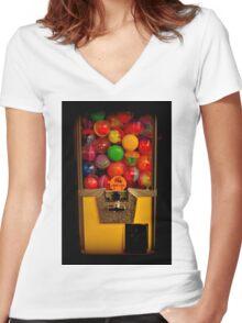 Gumball Machine Yellow - Series - Iconic New York City Women's Fitted V-Neck T-Shirt
