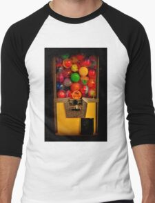 Gumball Machine Yellow - Series - Iconic New York City Men's Baseball ¾ T-Shirt