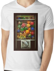 Gumball Machine Series - with Graffiti Burst - Iconic New York City Mens V-Neck T-Shirt