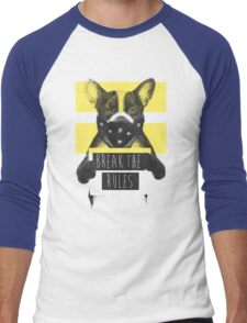 Rebel dog (yellow) Men's Baseball ¾ T-Shirt