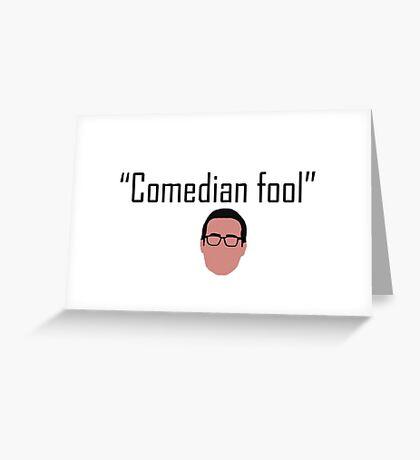 Comedian Fool Greeting Card