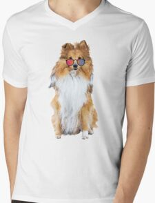 Cool Dog Mens V-Neck T-Shirt