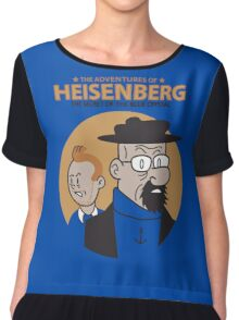 The Adventures Of Heisenberg : The Secret Of The Blue Crystal Chiffon Top