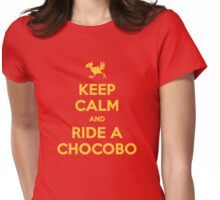 Keep Calm and Ride a Chocobo Womens Fitted T-Shirt