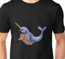 happy moustache narwhal Unisex T-Shirt