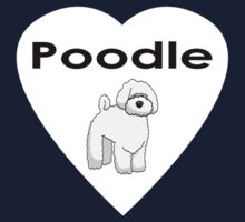 Poodle Love Sticker One Piece - Short Sleeve