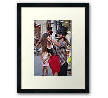 Street Theater 2 Framed Print