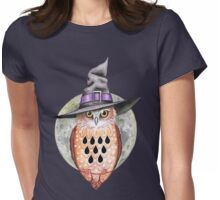 Halloween-Eule Womens Fitted T-Shirt