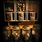 Gumball Memories - Row of Antique Vintage Vending Machines - Series - Iconic New York City by Miriam Danar