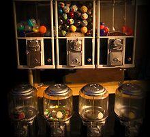 Gumball Memories - Row of Antique Vintage Vending Machines - Series - Iconic New York City by Miriam Danar