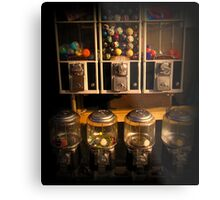 Gumball Memories - Row of Antique Vintage Vending Machines - Series - Iconic New York City Metal Print