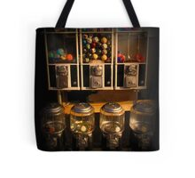 Gumball Memories - Row of Antique Vintage Vending Machines - Series - Iconic New York City Tote Bag