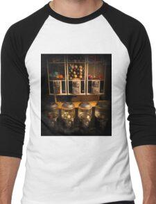 Gumball Memories - Row of Antique Vintage Vending Machines - Series - Iconic New York City Men's Baseball ¾ T-Shirt
