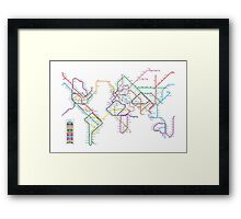 World Tube Metro Map Framed Print