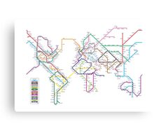 World Tube Metro Map Canvas Print