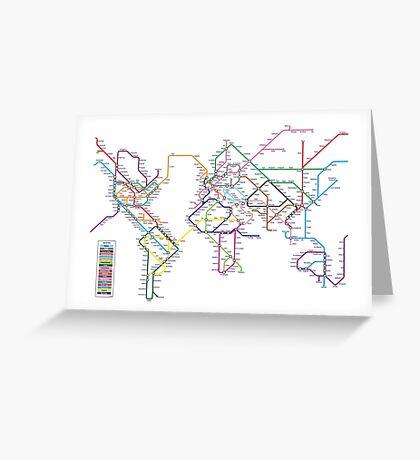 World Tube Metro Map Greeting Card