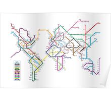 World Tube Metro Map Poster