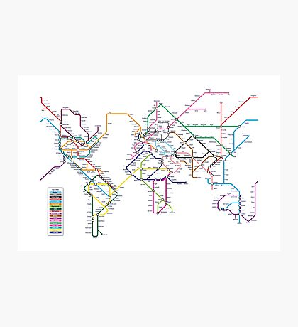 World Tube Metro Map Photographic Print