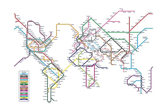 World Tube Metro Map by Michael Tompsett