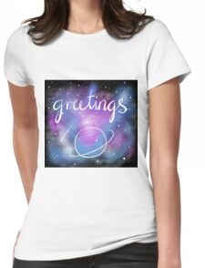 Greetings from Outer Space Womens Fitted T-Shirt