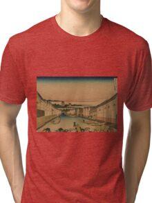 Edo nihonbashi - Hokusai Katsushika - 1890 Tri-blend T-Shirt