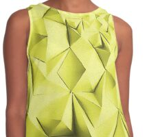 Yellow fractals pattern, geometric abstraction Contrast Tank