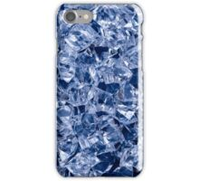 Crushed ice surface, abstract background iPhone Case/Skin