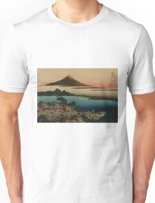 Dawn at Isawa in Kai Province - Hokusai Katsushika - 1890 Unisex T-Shirt