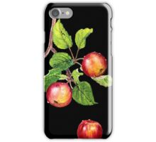 red apples on black iPhone Case/Skin
