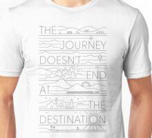 The Journey (black lines version) Unisex T-Shirt