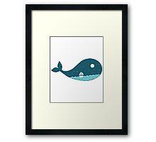 Whale Landscape Framed Print