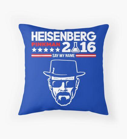 Heisenberg Pinkman For President 2016 Throw Pillow